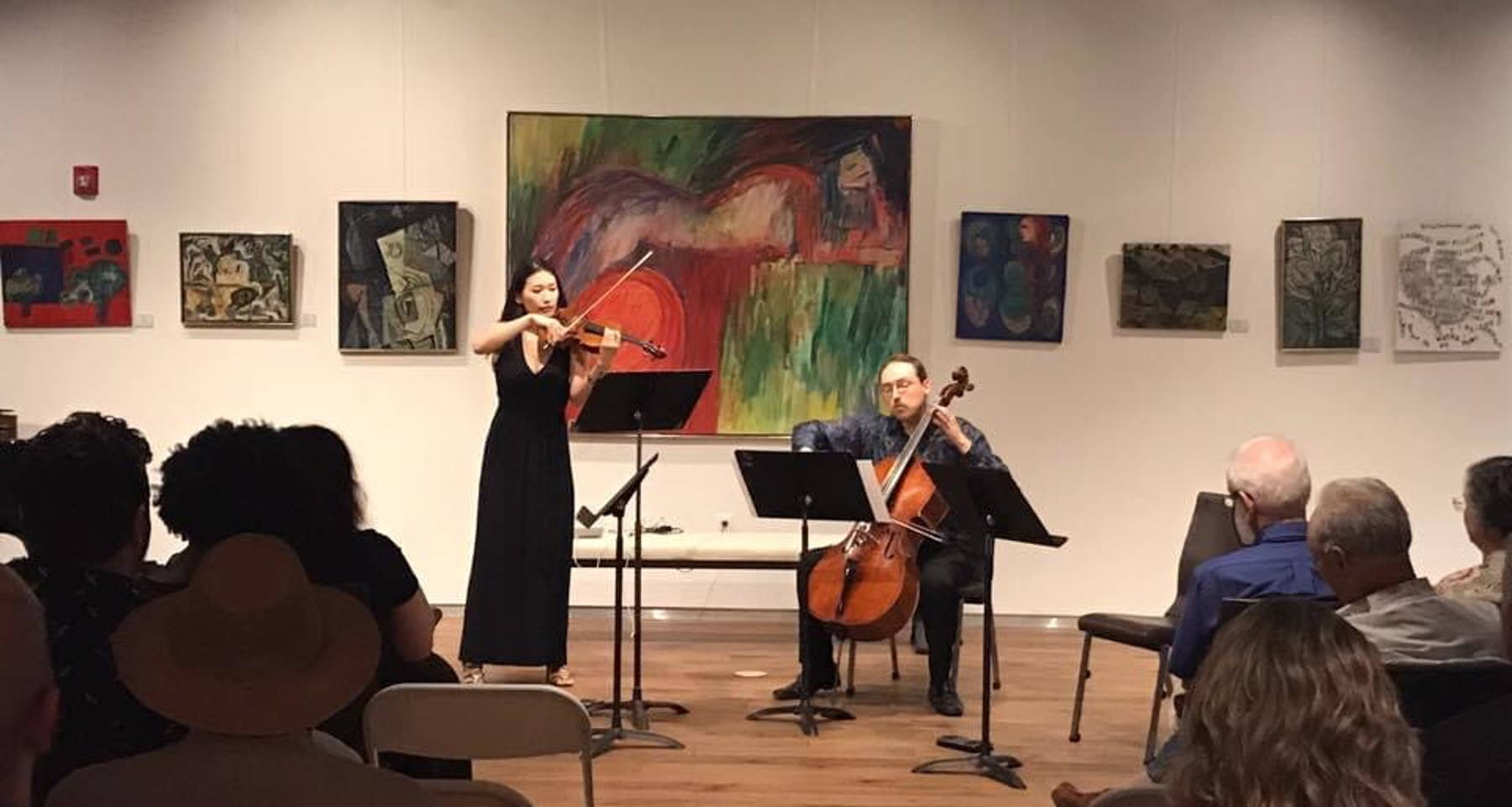 Capital String Duo performs music by Bach, Piazzolla and others