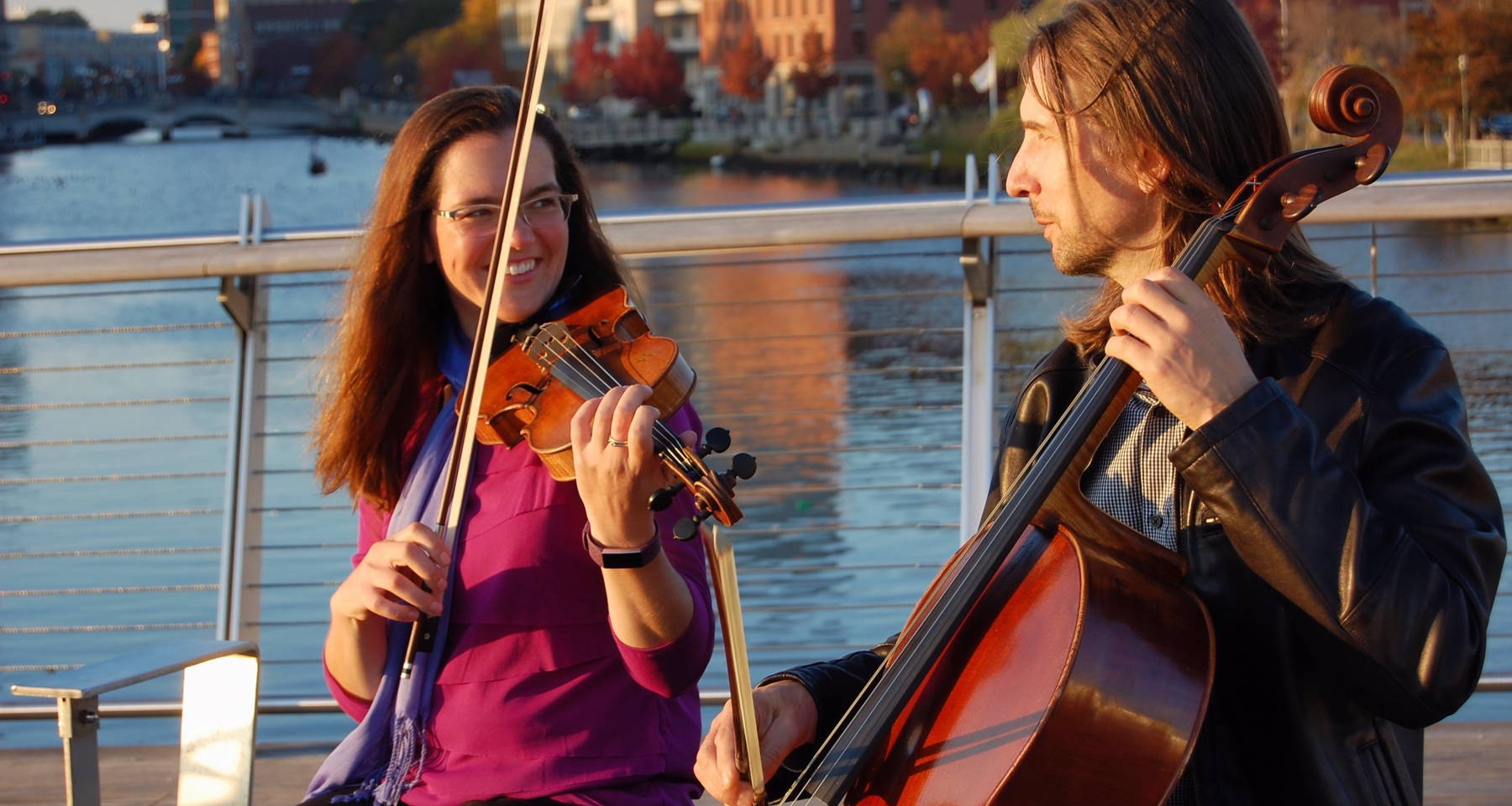 From Classical to Folk and Beyond: Peter on cello and EmmaLee on violin
