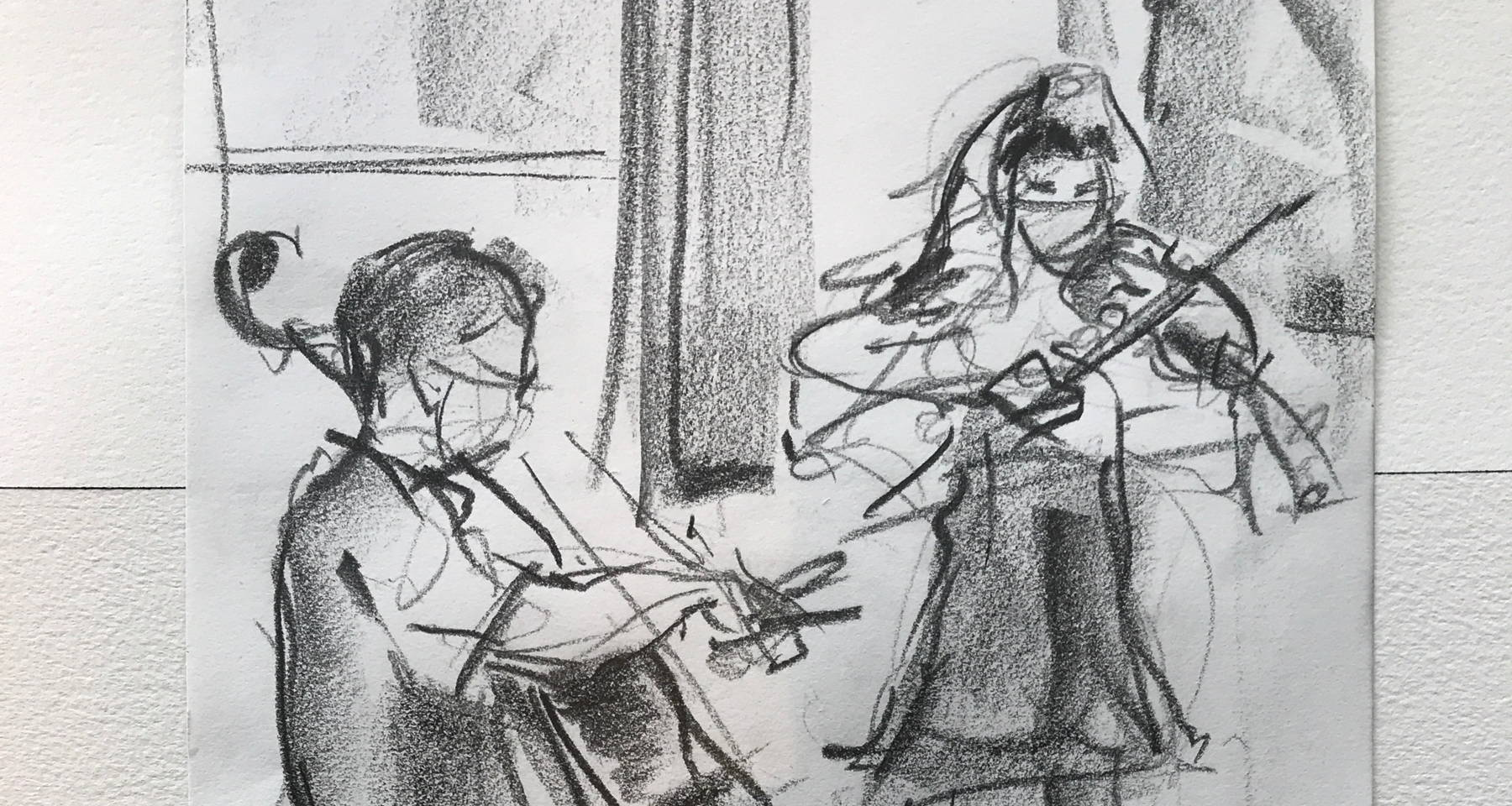 Parallel Play! Violin, Cello, and 2 Visual Artists Live From an Art Studio