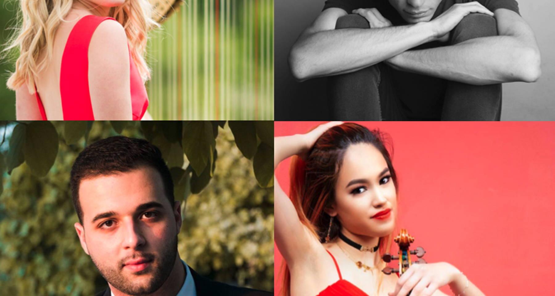 Bach and Ben, Concert One: Ben Solomonow (Cello), Alix Raspé Gray (Harp), Liana Branscome (Violin), Nathan Ben-Yehuda (Piano)