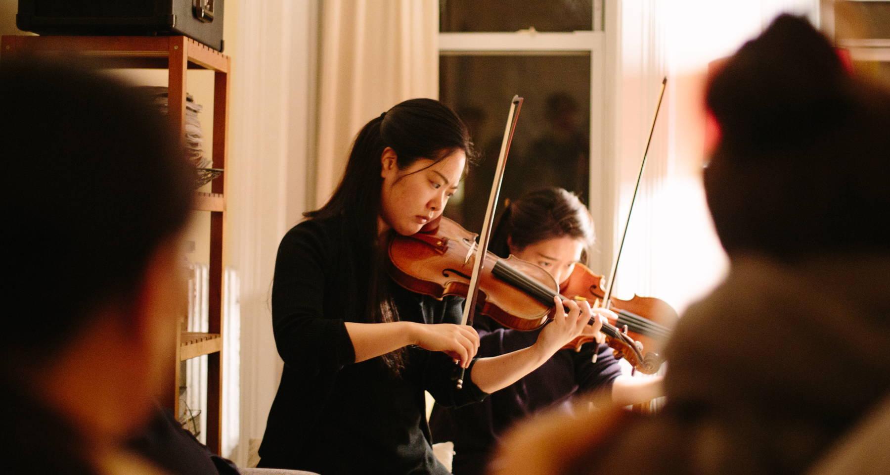 Violin/piano duo livestream from Louisville!