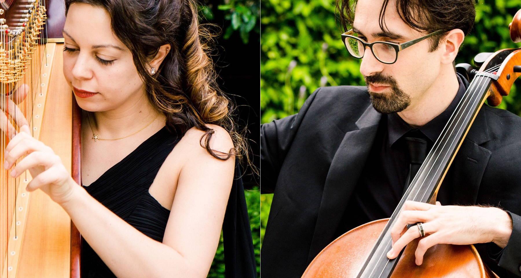 Strange Interlude: Folk Songs & Friendship on Harp & Cello